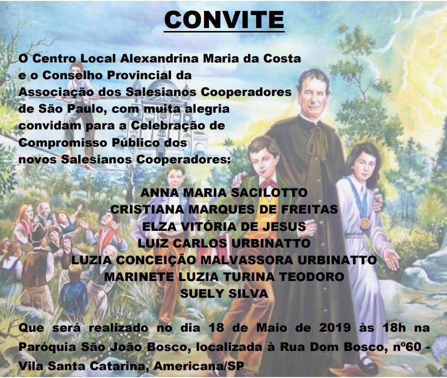 Novos Salesianos Cooperadores